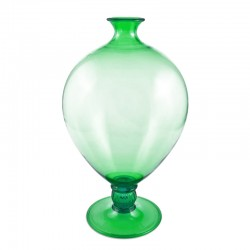 Veronese Green Vase in Murano Glass