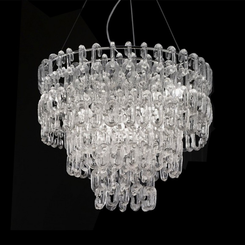 sogni di cristallo crystal dreams italian lighting pendant. Black Bedroom Furniture Sets. Home Design Ideas