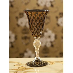 Venetian Glass Tipetto black gold